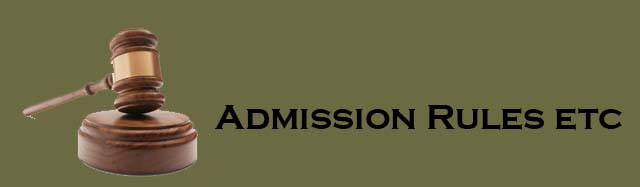 Admission Rules etc