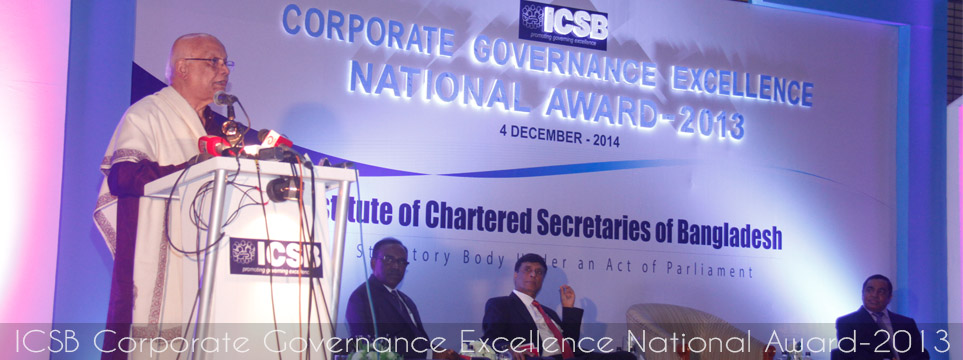 ICSB National Award for Corporate Governance Excellence 2013