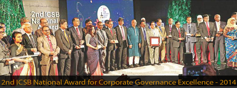 2nd ICSB National Award for Corporate Governance Excellence – 2014