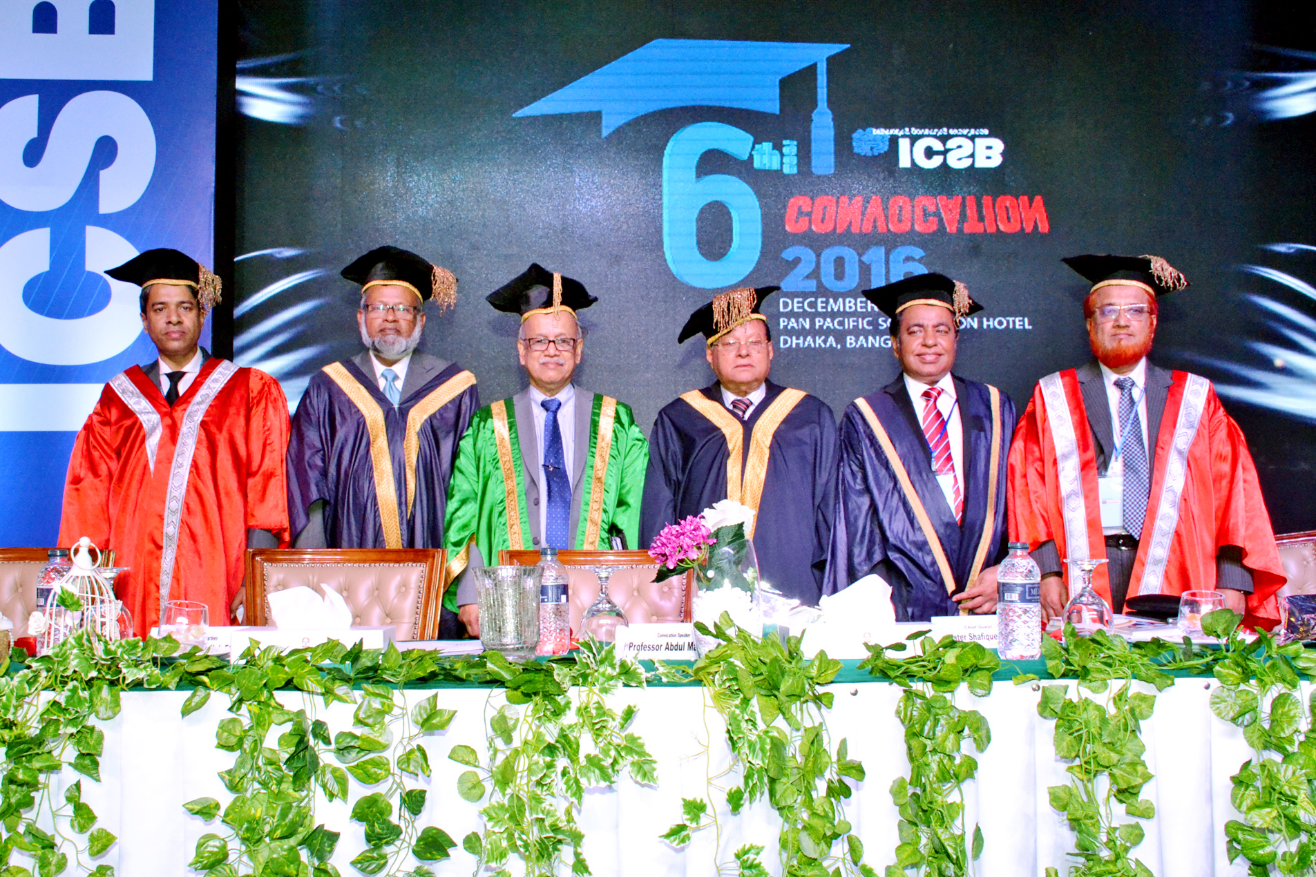 6th convocation  2016 of icsb