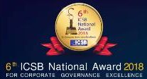 6th ICSB National Award 2018 FOR CORPORATE GOVERNANCE EXCELLENCE