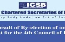 Final Result of By-election of one vacant post for the 4th Council of ICSB