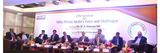 "ICSB CPD SEMINAR HELD ON  ""SDGs: PRIVATE SECTOR'S ROLES AND CHALLENGES"""